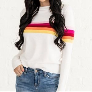 Rachel Parcell rainbow sweater
